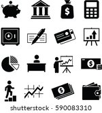 financial and money icon set | Shutterstock .eps vector #590083310