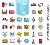 celebrities universal movie... | Shutterstock .eps vector #590093390