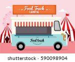food truck carnival template... | Shutterstock .eps vector #590098904