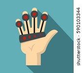 vr manipulator icon. flat... | Shutterstock .eps vector #590103344