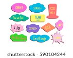 photo booth props colors text... | Shutterstock .eps vector #590104244