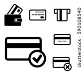 credit card vector icon set... | Shutterstock .eps vector #590108540