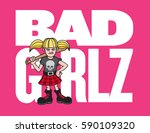 bad girl vector illustration... | Shutterstock .eps vector #590109320