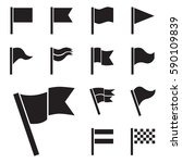flag vector icon set isolated... | Shutterstock .eps vector #590109839