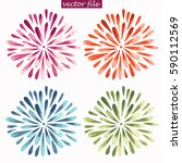 purple  red  green  and blue... | Shutterstock .eps vector #590112569