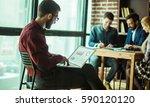 commercial director working... | Shutterstock . vector #590120120