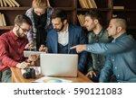 business team discussing a new... | Shutterstock . vector #590121083