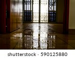 water damage inside a house | Shutterstock . vector #590125880