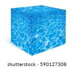 water made cubic figure | Shutterstock . vector #590127308