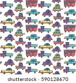 vector seamless pattern in... | Shutterstock .eps vector #590128670
