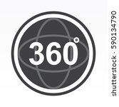 360 degrees view sign icon   Shutterstock .eps vector #590134790