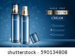 hydrating facial cream for... | Shutterstock .eps vector #590134808