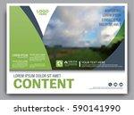 greenery brochure layout banner ... | Shutterstock .eps vector #590141990