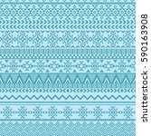 ethnic seamless pattern with... | Shutterstock .eps vector #590163908