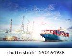logistics and transportation of ... | Shutterstock . vector #590164988