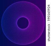 circular wireframe mesh logo...   Shutterstock .eps vector #590165924