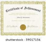 vector certificate with sample... | Shutterstock .eps vector #59017156