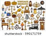 vector illustration of sticker... | Shutterstock .eps vector #590171759
