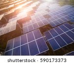 solar panels  solar cell  in... | Shutterstock . vector #590173373