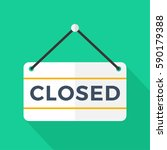 we are closed sign with... | Shutterstock .eps vector #590179388