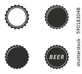bottle cap vector icons set.... | Shutterstock .eps vector #590183048