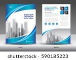 brochure template layout  blue... | Shutterstock .eps vector #590185223