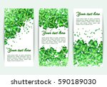 set of spring banners st.... | Shutterstock .eps vector #590189030