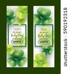 st patrick's day banners... | Shutterstock .eps vector #590192318