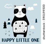 panda illustration vector. | Shutterstock .eps vector #590199500