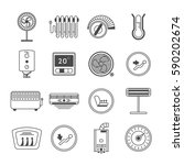 climate control line art icon... | Shutterstock .eps vector #590202674
