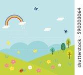 vector illustration of spring... | Shutterstock .eps vector #590203064