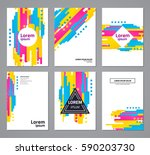 set of abstract geometric... | Shutterstock .eps vector #590203730