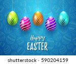 happy easter vector typography... | Shutterstock .eps vector #590204159