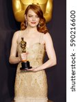 emma stone at the 89th annual... | Shutterstock . vector #590216600