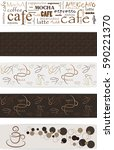 banner set of seamless coffee... | Shutterstock .eps vector #590221370