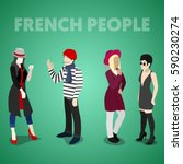 isometric french people in...   Shutterstock .eps vector #590230274