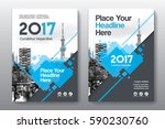 blue color scheme with city... | Shutterstock .eps vector #590230760