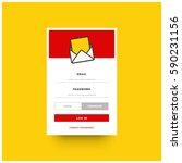 yellow and red member login box ...