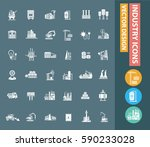 industry icon set clean vector | Shutterstock .eps vector #590233028