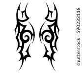 tattoo tribal vector designs... | Shutterstock .eps vector #590233118
