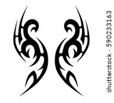 tattoo tribal vector designs... | Shutterstock .eps vector #590233163