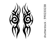 tattoo tribal vector designs.... | Shutterstock .eps vector #590233238