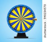 blue wheel of fortune vector... | Shutterstock .eps vector #590234570