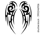 tattoo tribal vector designs... | Shutterstock .eps vector #590246906