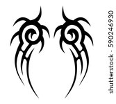 tattoo tribal vector designs.... | Shutterstock .eps vector #590246930
