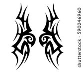 tattoo tribal vector designs.... | Shutterstock .eps vector #590246960