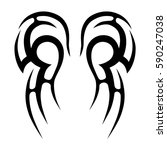 tattoo tribal vector designs... | Shutterstock .eps vector #590247038