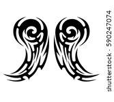 tattoo tribal vector designs... | Shutterstock .eps vector #590247074
