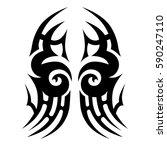 tattoo tribal vector designs... | Shutterstock .eps vector #590247110