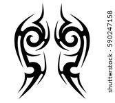 tattoo tribal vector designs... | Shutterstock .eps vector #590247158